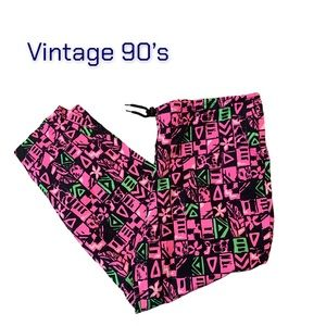 Vintage 90's Equipt Draw String Water Pants Pink L
